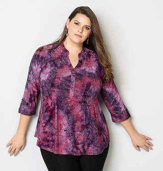 Avenue Floral Jacquard Pleated Top