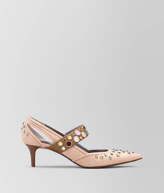 Bottega Veneta PEACH ROSE SUEDE KITTEN HEEL