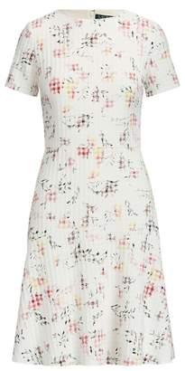 PetiteRalph Lauren Floral Jacquard Dress
