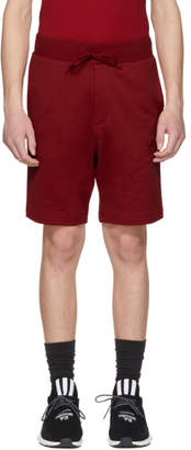 Y-3 Red Classic Logo Shorts