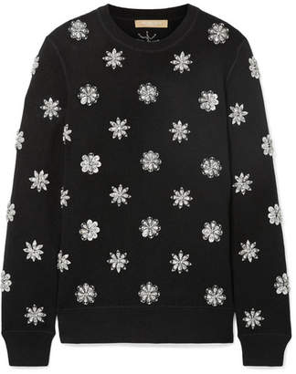 Michael Kors Crystal-embellished Knitted Sweater - Black