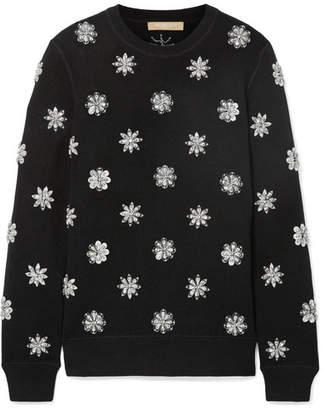 Michael Kors Crystal-embellished Knitted Sweater - Black
