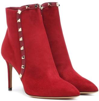 Valentino Rockstud suede ankle boots