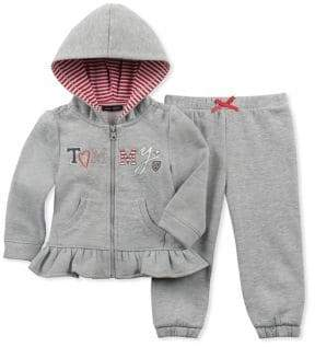 Tommy Hilfiger Baby Girl's Two-Piece Cotton Sweater Pants Set