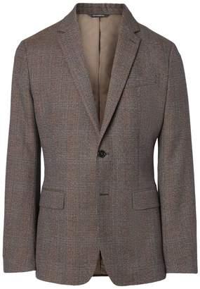 Banana Republic Slim Brown Plaid Italian Wool Suit Jacket