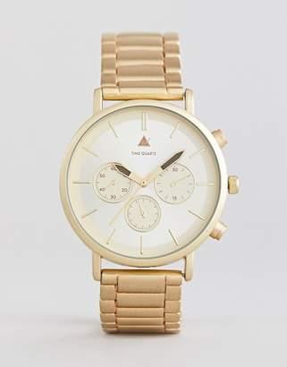 Design PLUS Bracelet Watch in Brushed Gold