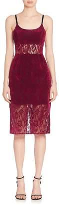 ABS by Allen Schwartz Women's Sheer Panel Lace Sheath Dress