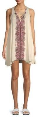 Show Me Your Mumu Daryn Lace-Up Mini Dress
