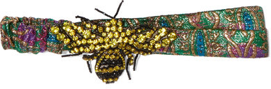 GucciGucci - Embellished Metallic Jacquard Headband - Green