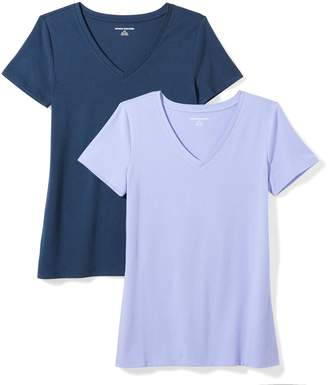 2e446ba52 at Amazon Canada · Amazon Essentials Women's 2-Pack Short-Sleeve V-Neck  Solid T-Shirt