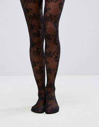 Asos Design DESIGN lace mesh tights