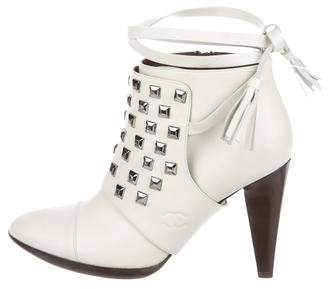 Chanel Studded Ankle Boots