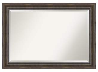 "Amanti Art 36""x24"" Wall Mirror Extra Large Rustic Pine"