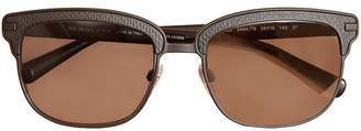 Burberry Textured Front Square Frame Sunglasses