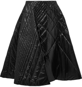 Noir Kei Ninomiya Moncler Genius - 6 Quilted Shell Midi Skirt - Black