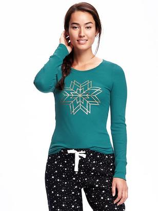 Semi-Fitted Thermal Tee for Women $12.94 thestylecure.com