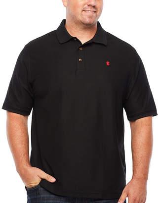 Izod Short Sleeve Solid Polo Shirt- Big & Tall