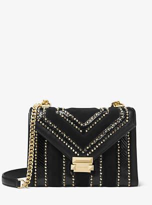 Michael Kors Whitney Large Mixed-Media Convertible Shoulder Bag