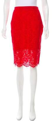 Diane von Furstenberg Lace Glimmer Skirt