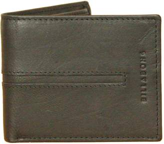 Billabong Leather Bi-fold Wallet with CC, Note and Coin Pockets ~ Empire Snap
