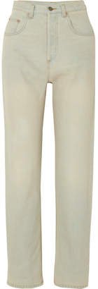 Gucci Printed High-rise Straight-leg Jeans - Light denim