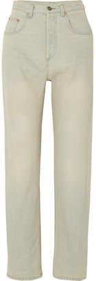 Gucci Printed High-rise Straight-leg Jeans - Light denim