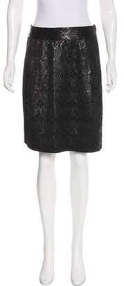 Tory Burch Brocade Knee-Length Skirt w/ Tags