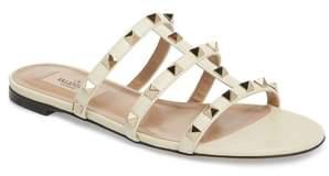 Valentino Rockstud Slide Sandal