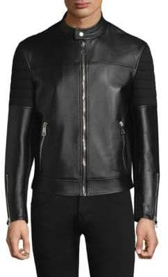 Neil Barrett Leather Sweatshirt Back Jacket