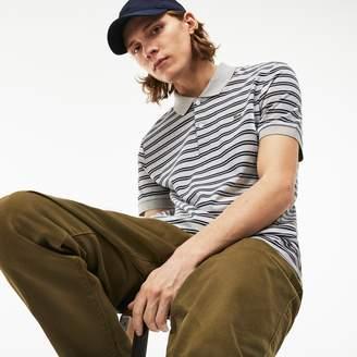 Lacoste Men's Regular Fit Striped Pima Cotton Interlock Polo