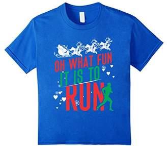 Christmas Running Runner Shirt Gift Oh What Fun It Is To Run