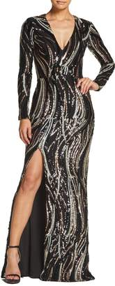 Dress the Population Alessandra Sequin Gown