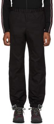 Prada Black Poplin Divisa Trousers