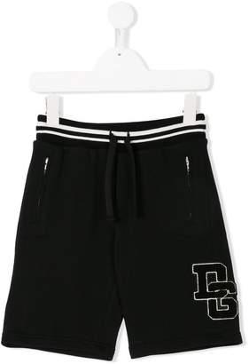 Dolce & Gabbana logo patch track shorts