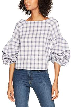 New Look Women's Soft Check Extreme SLV Shell Blouse,8