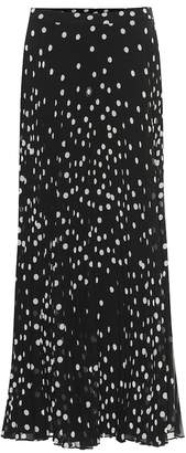 Stella McCartney Alpha polka-dot pleated maxi skirt