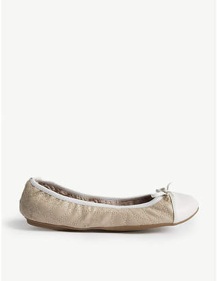 butterfly twists Olivia 2 quilted folding ballerina pumps