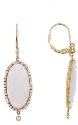 Meira T 14K Yellow Gold Purple Jade & Diamond Dangle Earrings