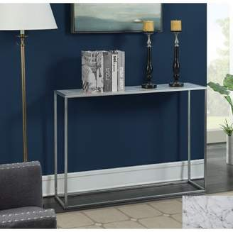 Convenience Concepts Gold Coast Faux Marble Console Table, Multiple Finishes