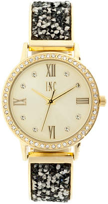 INC International Concepts I.n.c. Women's 1/2 Bangle & 1/2 Bracelet Watch 34mm, Created for Macy's