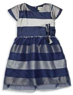 Little Girl's Striped Flare Party Dress
