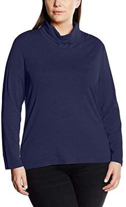 Via Appia Women's T-Shirt Rollkragen Langarm Turtleneck Long Sleeve Long-Sleeved T-Shirt - Blue - (XXL)