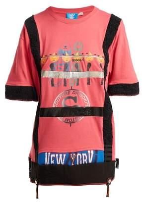 Noki - Matchstick Print Cotton T Shirt Dress - Womens - Pink Multi