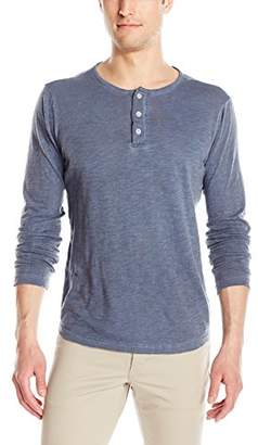 Michael Stars Men's Oil Wash Long Sleeve Henley T-Shirt