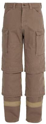 Y/Project Tiered Denim Trousers - Mens - Beige