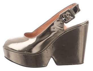Robert Clergerie Metallic Platform Wedges