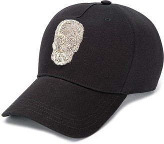 Alexander McQueen embroidered skull baseball cap