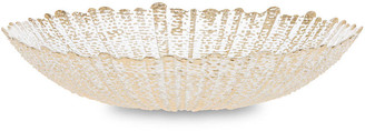 Vietri Rufolo Glass Serving Bowl - Gold