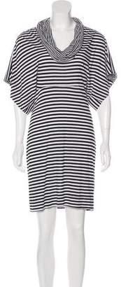 Black Halo Striped Cowl Dress w/ Tags