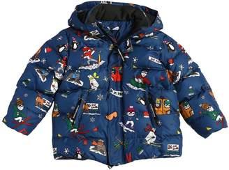 Dolce & Gabbana Skiing Designers Hooded Down Jacket